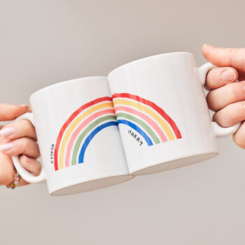 Personalised Rainbow Mug Set