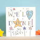 'Well Done' Congratulations Card