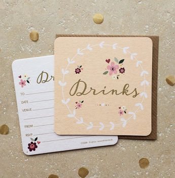 Drinks Coaster Invitation