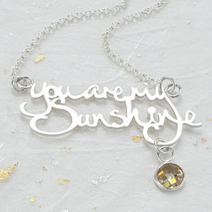 You Are My Sunshine Necklace - necklaces & pendants
