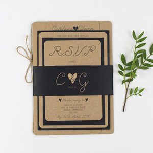 Country Charm Wedding Stationery Sample Pack - save the date cards