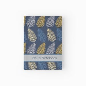 Leaf Design Personalised Notebook