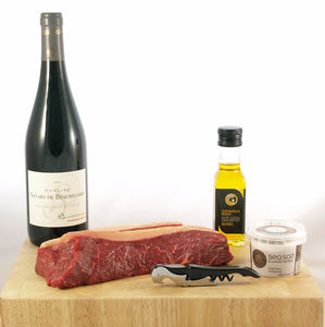 Steak And Wine Gift Box - dietary food and drink