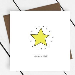 'You Are A Star' Greeting Card - thank you cards