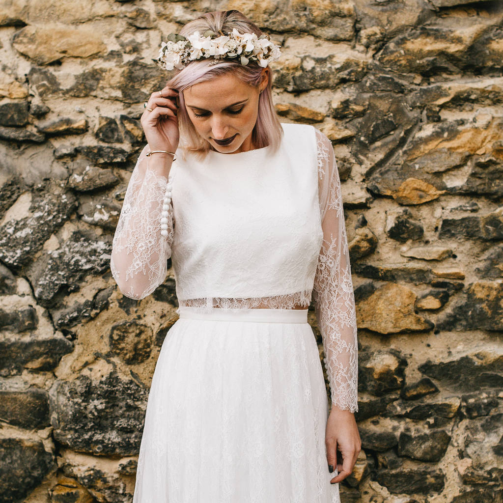 rita long sleeve lace bridal top by story of my dress ...