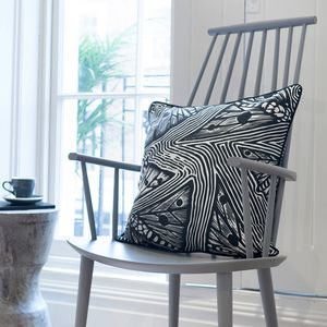 Screen Printed Bogong Butterfly Pattern Cushion - cushions