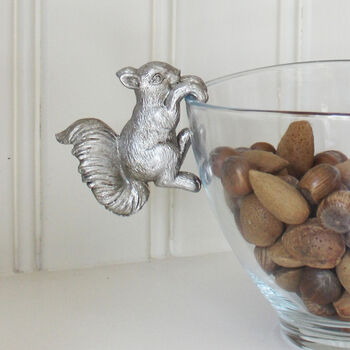 Squirrel Christmas Nut Dish Hanger