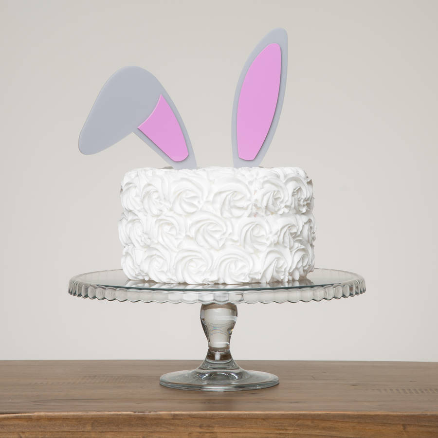 bunny ears easter cake topper by funky laser ...