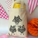 Colour In Party Bag With Owls