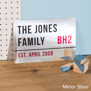 Personalised Metallic London Street Sign - home accessories