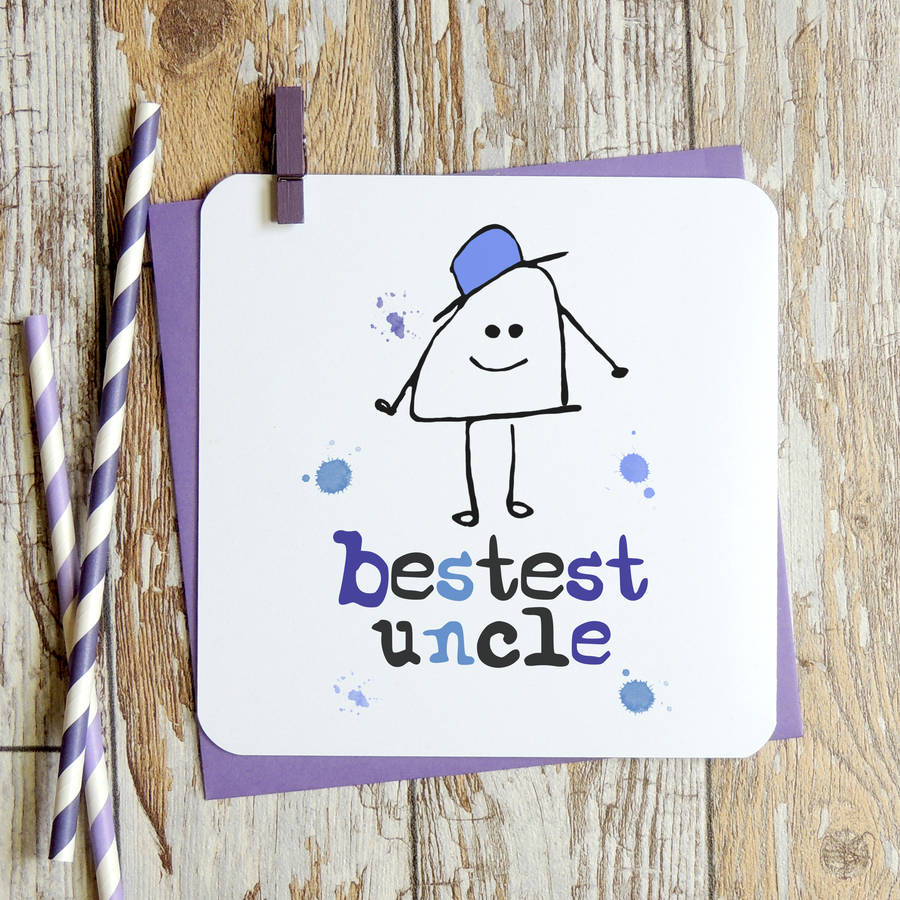 bestest uncle birthday card by parsy card co – Birthday Cards Uncle