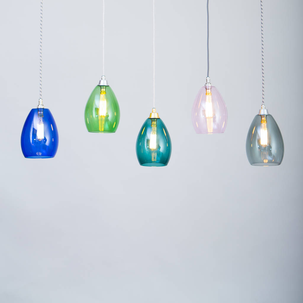 Coloured wire flex light bertie mid coloured glass pendant light mozeypictures Choice Image