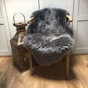 Luxury Platinum Grey Sheepskin Rugs - throws, blankets & fabric