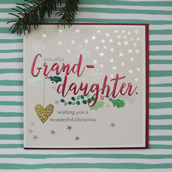 Granddaughter Christmas Greeting Card