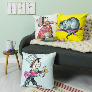 Alice In Wonderland Character Cushion - children's room