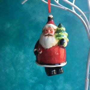 Ceramic Santa Bell Christmas Decoration