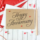 Personalised Happy Anniversary Card With Love Hearts