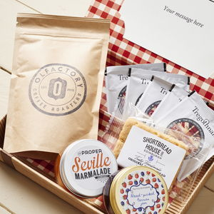 Personalised Luxury Breakfast Letter Box Hamper - food & drink gifts under £30