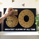 50 Greatest Albums Playlist Scratch Print