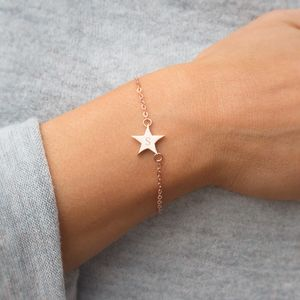 Chloe Initial Star Personalised Bracelet - stocking fillers