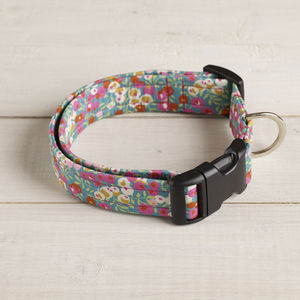 Minnie Liberty Fabric Dog Collar