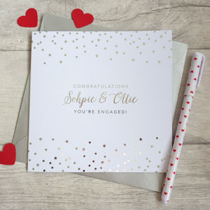 You're Engaged Metallic Card - engagement cards