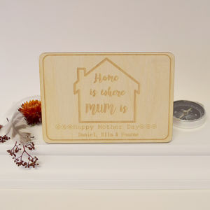 Personalised Home Is Where Mum Is Postcard Keepsake - mother's day cards