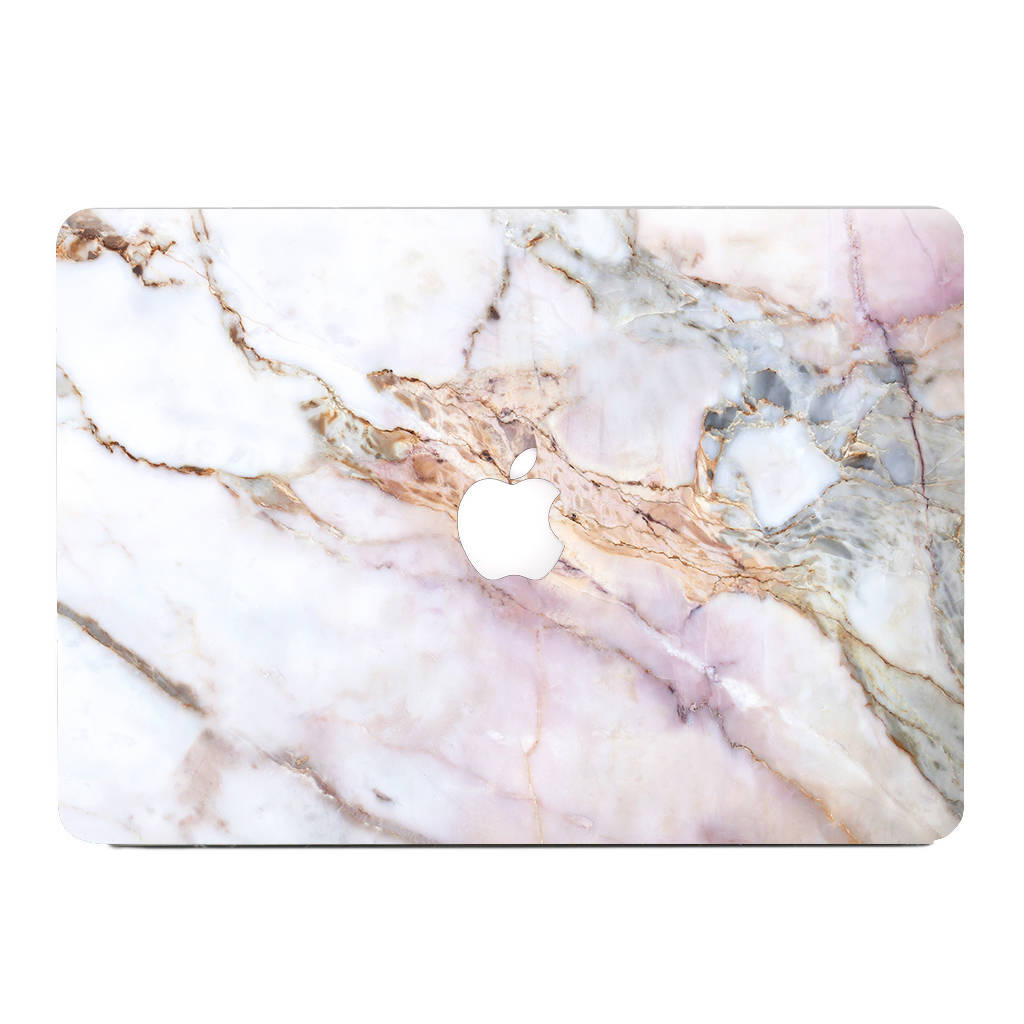 Pink Grey White Marble Iphone Case And Macbook Skin By