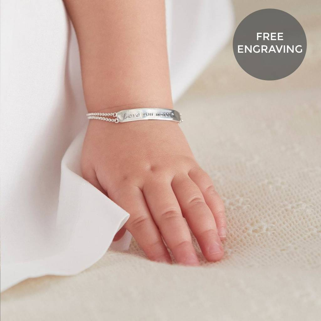 Baby's First Diamond Christening Bracelet by Molly Brown London