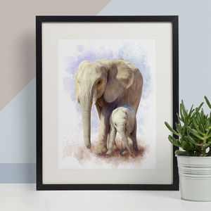 Elephants Animal Print, Wildlife Art Print