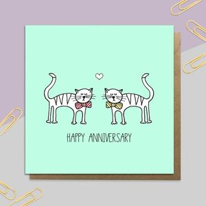 Mr And Mr Anniversary Cats Card