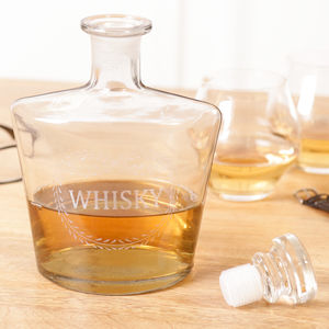 Etched Glass Whisky Decanter
