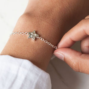 All My Stars Silver Star Charm Bracelet