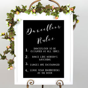Personalised Wedding Dancefloor Sign