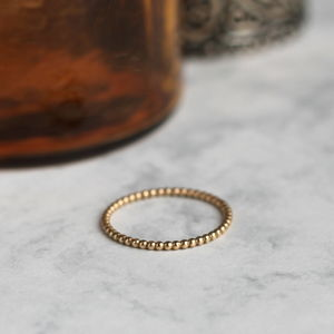 Dotted Stacking Ring Gold Fill
