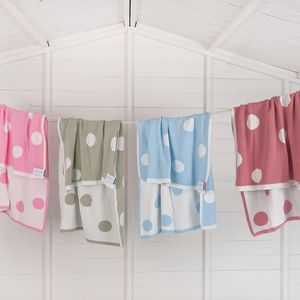 Reversible Cotton Baby Pram Blanket
