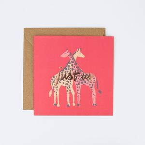 Giraffes 'Just Us' Valentine's Day Greeting Card