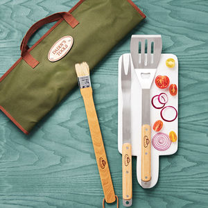Personalised Barbecue Tools Gift Set - gifts for grandparents