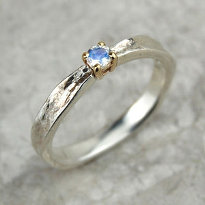 Thumbelina June Birthstone Moonstone Ring - rings