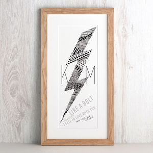 Personalised Lightening Bolt Print