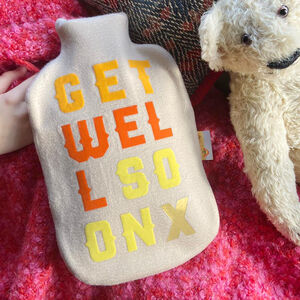 Get Well Soon Hot Water Bottle Cover