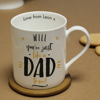 Personalised Just Like A Dad To Me Fathers Day Mugs