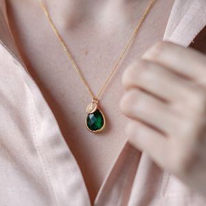 Personalised Gold Emerald Necklace - view all new