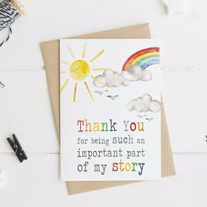 Thank You For Being Part Of My/Our Story Card