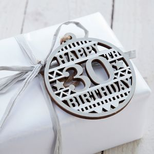 30th Birthday Gift Tag
