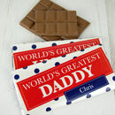 Personalised 'World's Greatest' Chocolate Bar