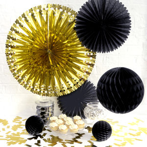 Classic Metallic Party Decoration Collection - garlands & bunting