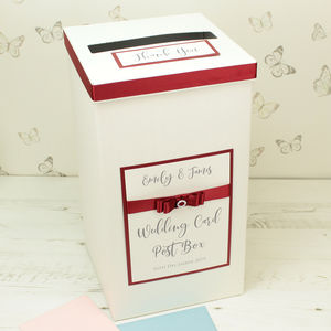 Personalised Dior Wedding Post Box