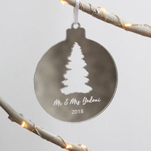 Personalised Christmas Tree Acrylic Ornament