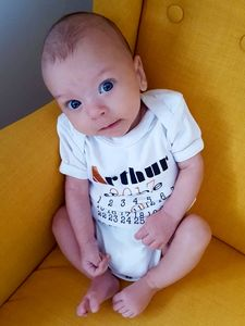 Personalised Baby Grow With Name And Date Of Birth - babygrows